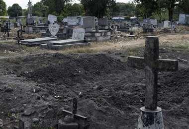 La cruz señala el lugar donde fue sepultada Eliannys Martínez