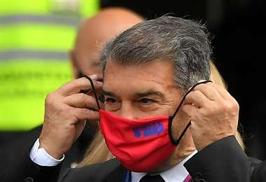 Joan Laporta ganó este domingo las elecciones en el Barcelona. Foto: AFP