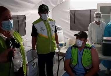 Captura de transmisión al vivo en el Cambódromo