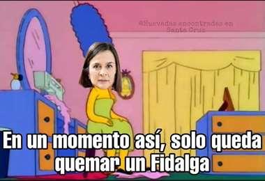 La candidata Rosario Schamisseddine también fue blanco de memes