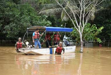 La capital pandina quedó aislada por las lluvias/Foto: ABI