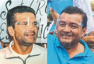 José Gary Áñez y Jhonny Fernández