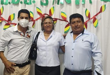 Alcocer, Ayala y Choque, nuevos directores distritales. Foto. Soledad Prado