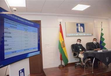 La autoridades explican el alcance del IGF (Foto: APG)