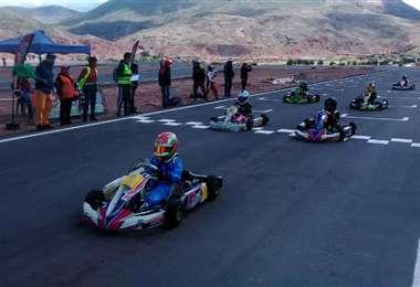 """El kartódromo """"Ojo del Inca"""", en Tarapaya, Potosí, será escenario de la primera prueba"""