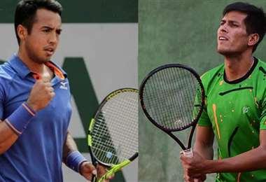 Hugo Dellien y Federico Zeballos, tenistas bolivianos. Foto: inrternet