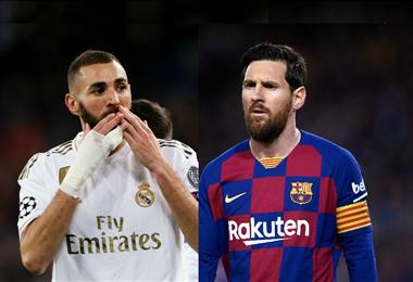 Benzema y Messi, los goleadores del fútbol español. Foto. Internet