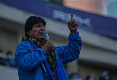 Evo Morales lanzó varias lineas en esta jornada (ABI)