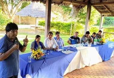 Evo se reunió con las autoridades electas de Santa Cruz (Foto: Evo Morales)