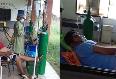Pacientes con Covid-19 en Guayaramerín/Foto: APG