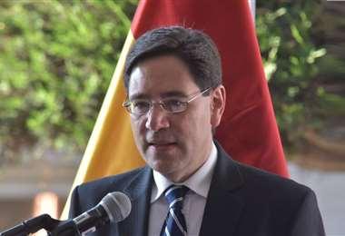 Romero inauguró la jornada desde La Paz. Foto: ABI
