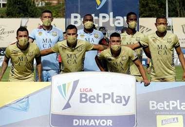 Estos son los siete jugadores de Aguilas Doradas que jugaron el domingo. Foto: internet