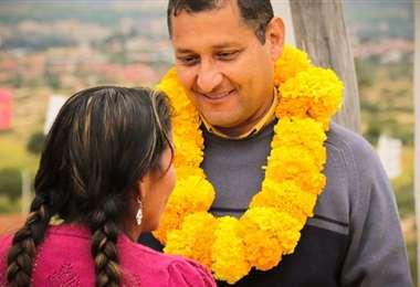 ÓScar Montes se decara ganador en Tarija con una ventaja de 11 puntos. Foto: EL DEBER