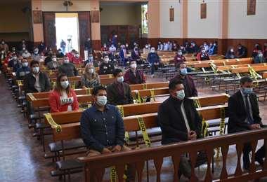 Always Ready tuvo una misa en la iglesia Nuestra Señora del Carmen. Foto: APG Noticias