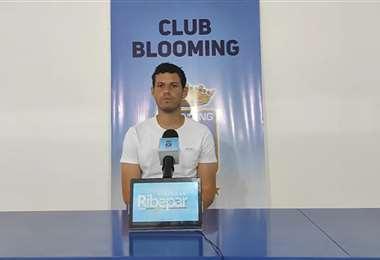 Pedro Franco, defensor de Blooming. Foto: Club Blooming
