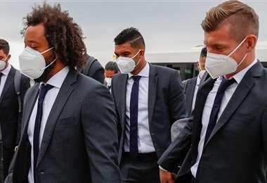 Los jugadores del Real Madrid llegaron a Liverpool. Foto: @realmadrid