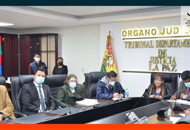 La UIF presentó sus actividades al Tribunal Departamental de Justicia de La Paz