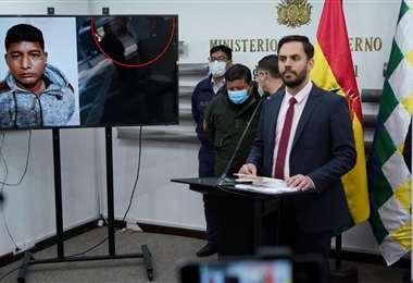Del Castillo, aseguró que el ministro fue hallado en flagrancia/Foto: ABI