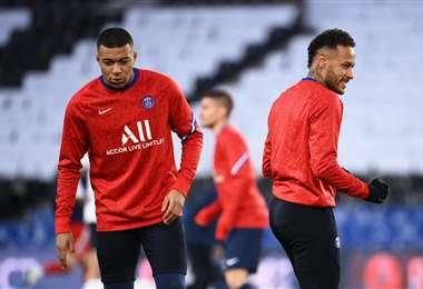 Mbappe y Neymar, las figuras del PSG. Foto. AFP