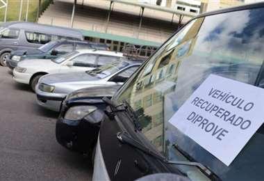 Dripove entrega vehículos recuperados. Foto: internet