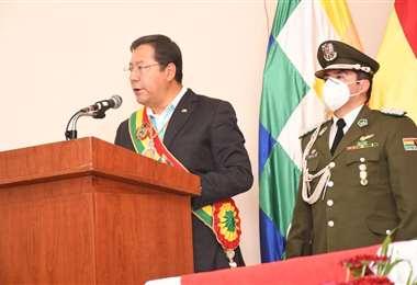 Luis Arce en Tarija. Foto: EL DEBER