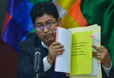 Ministro Edgar Montaño pide celeridad en el caso Balderrama. Foto: Archivo