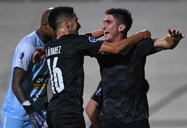 El festejo de los jugadores del City Torque tras asegurar su clasificación. Foto: internet