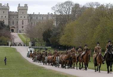 Ensayo del funeral del príncipe Felipe en las afueras del castillo de Windsor