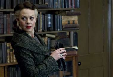 Helen McCrory fue Narcissa Malfoy en Harry Potter