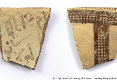 """Las letras difuminadas, a la izquierda, pueden incluir la palabra """"esclavo"""". Foto: DW"""
