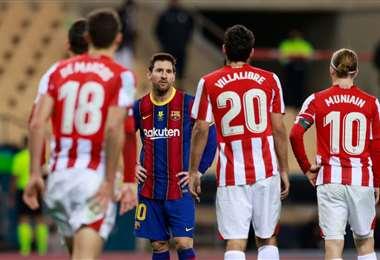 Messi es el jugador más temido por los jugadores del Athletic. Foto: Internet