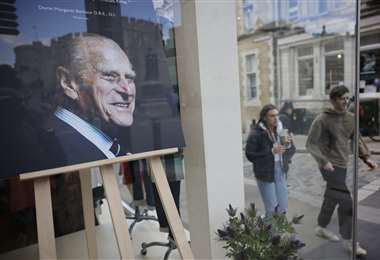 Un retrato del príncipe Felipe de Gran Bretaña. Foto AFP