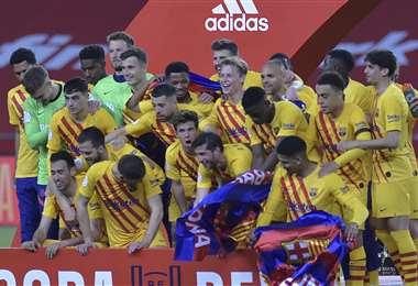 Barcelona, campeón de la Copa del Rey. Foto: AFP