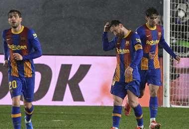 El Barcelona llega a este partido tras perder el clásico de LaLiga. Foto: AFP
