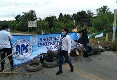 Los puntos de bloqueo están en Villa Montes y Yacuiba (Foto: Yacuiba Digital)