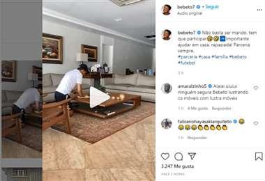 Captura de pantalla del video que publicó Bebeto en Instagram