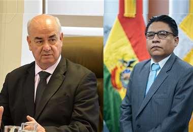 Parada (izq.) fue citado a declarar a las 14:00 ante la denuncia de Lima (der.)