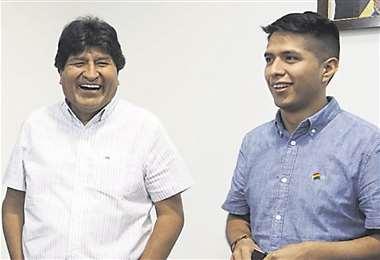 Evo Morales y Andrónico Rodríguez, líderes cocaleros