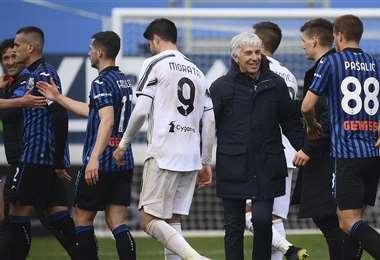 La Juventus perdió este domingo contra el Atalanta. Foto: AFP. Foto: AFP