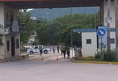 El cierre de frontera se cumple en Puerto Suárez (Foto: Lorenzo Yopiez)