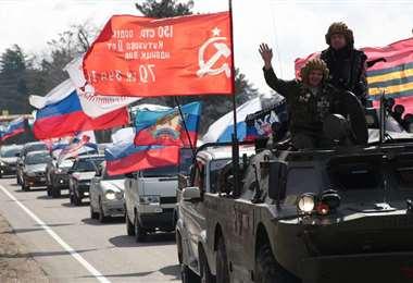 Desfile de motorizados en Crimea
