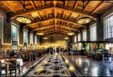 Este es el interior de la Union Station, donde se entregarán los premios Óscar