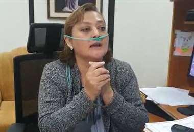 Imagen de archivo de la jueza Ximena Mendizábal