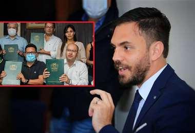 El ministro criticó a la misión que viajó a reunirse con la OEA