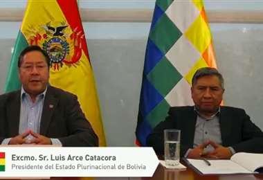 El presidente Arce participó de la Cumbre Iberoamericana de Jefes de Estado