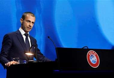 Aleksander Ceferin, presidente de la UEFA. Foto: AFP