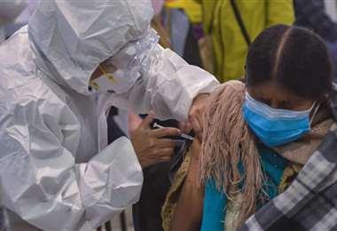 Bolivia está en un proceso de vacunación en todo el país. Foto. ABI