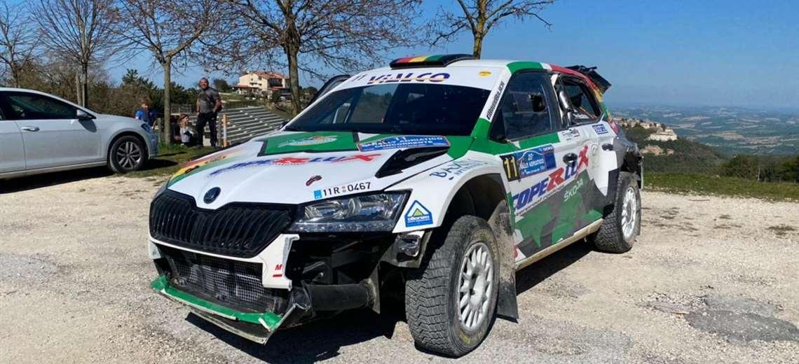El coche Skoda de Bulacia, que corría con el número 11. Foto: Prensa Bruno Bulacia