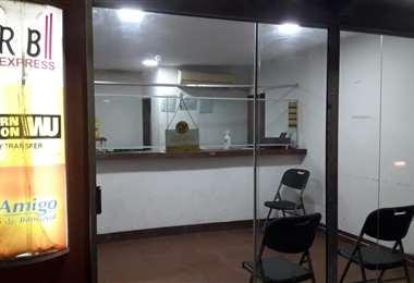 La entidad financiera donde se registró el atraco esta ubicada en La Villa