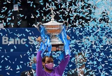 Rafael Nadal sumó un nuevo título en su carrera. Foto: AFP